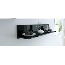 Etagère laquée noir 97,5 cm