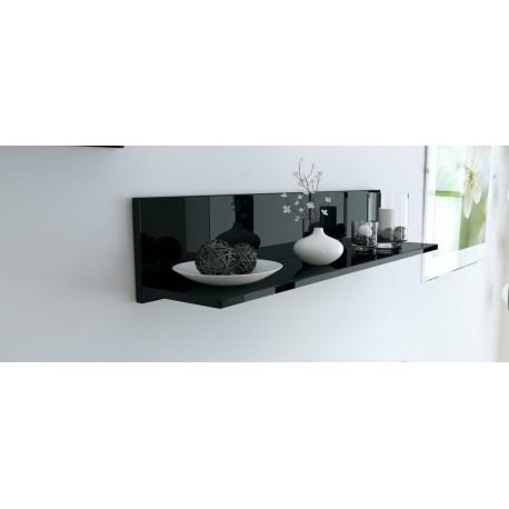 Etagère murale laquée noir 97,5 cm