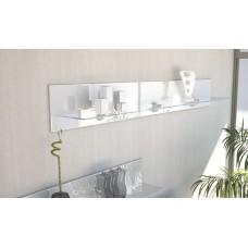 Etagère en bois et verre blanche 146 cm