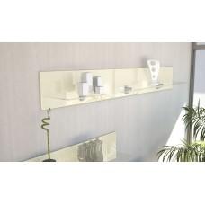 Etagère en bois et verre crème  avec led 146 cm