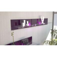 Etagère en bois et verre mûre avec led 146 cm