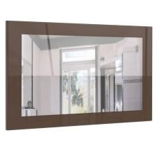 Miroir laqué haute brillance chocolat  89 cm