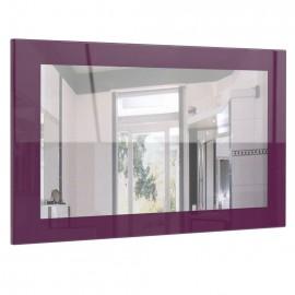 Miroir laqué haute brillance violet 89 cm