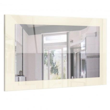 Miroir laqué haute brillance crème 89 cm
