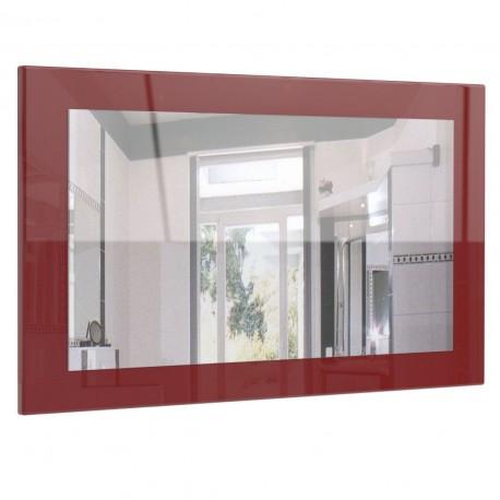 Miroir laqué haute brillance bordeaux 89 cm
