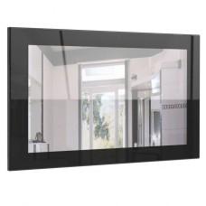 Miroir laqué haute brillance noir 89 cm