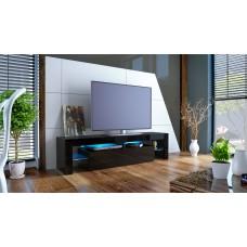 Meuble tv noir avec led 151 cm