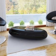 Table basse/ table de café fibre de verre noire