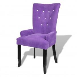 Chaise capitonnée velours  violet