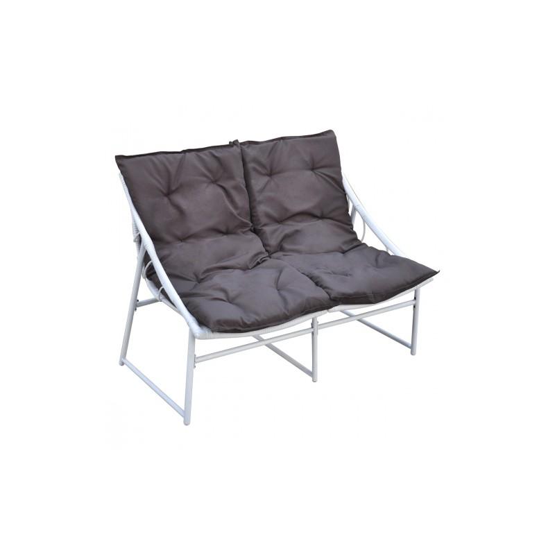 Ensemble chaise et table en rotin blanc pour ext rieur set for Ensemble table chaise blanc