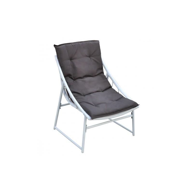 ensemble chaise et table en rotin blanc pour ext rieur set de 4 pi ces. Black Bedroom Furniture Sets. Home Design Ideas