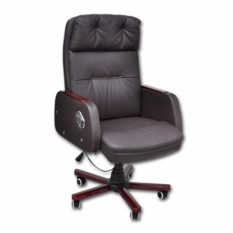 fauteuil de bureau en simili cuir marron. Black Bedroom Furniture Sets. Home Design Ideas