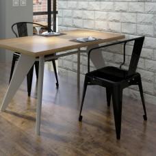 Ensemble de 2 chaises design noires en acier