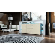 Buffet design blanc et crème  192 cm
