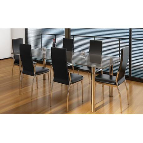 Ensemble de 6 chaises  noires