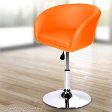 Tabouret de bar avec dossier Fauteuil  style anglais orange