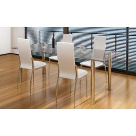 Ensemble de 4 chaises design coloris blanc