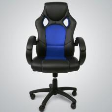 Fauteuil de bureau ergonomique noir/bleu