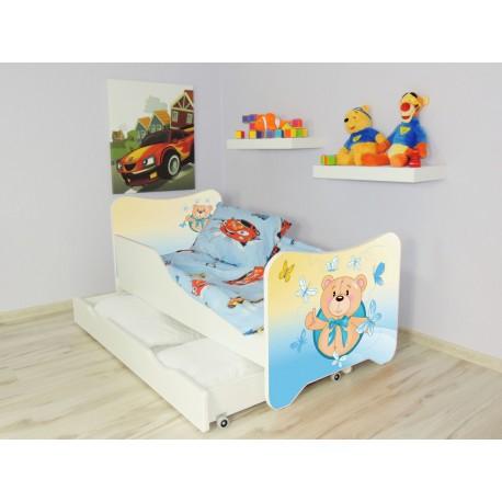lit enfant et bb 144 x 76 cm avec matelas et tiroirs ours - Lit Enfant Avec Tiroir