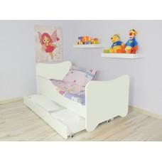 Lit Enfant  et Bébé 144 X 76 cm avec matelas et tiroir blanc
