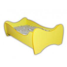 Lit Enfant  et Bébé 140x70  avec matelas jaune