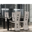 Ensemble de 4 chaises design blanches