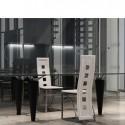Ensemble de 2 chaises modernes  blanches