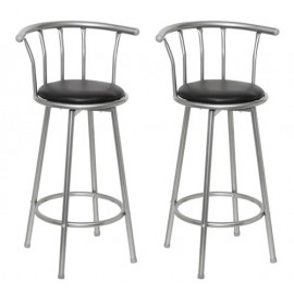 Ensemble de 2 tabourets de bar design avec repose pied