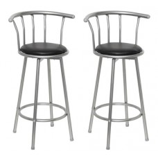 Ensemble de 2 tabourets de bar design avec repose pied