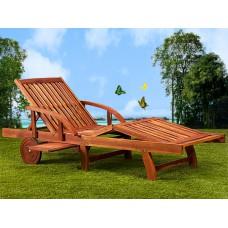 Chaise longue bois pliante