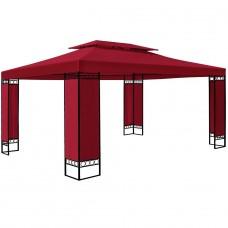 Tonnelle de jardin rouge 3x4m