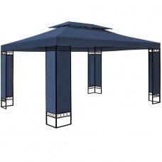 Tonnelle de jardin bleue 3x4m