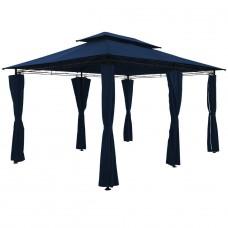 Tonnelle de jardin  4x3m Bleu