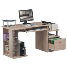 Bureau en MDF aspect bois de chêne