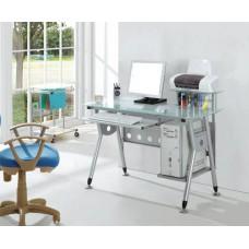 Bureau informatique avec plateau en verre