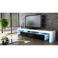 Meuble tv blanc  et noir 189 cm sans  led
