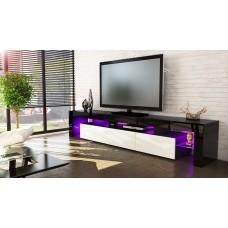 Meuble tv noir et crème  189 cm sans led