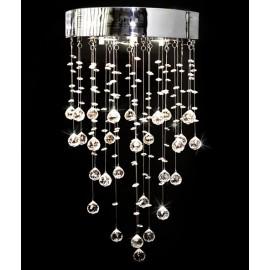 Applique en cristal et métal 180 cristaux