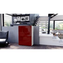 Armoire commode design blanche 76 cm
