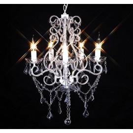 Lustre en cristal 5 bougies 2800 cristaux