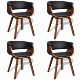 Ensemble de 4 chaises dossier en simili cuir