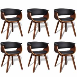 Ensemble de 2 chaises dossier en simili cuir