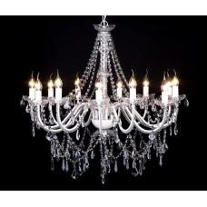 Lustre en cristal 12 bougies 1600 cristaux