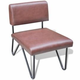 Chaise brun en simili cuir