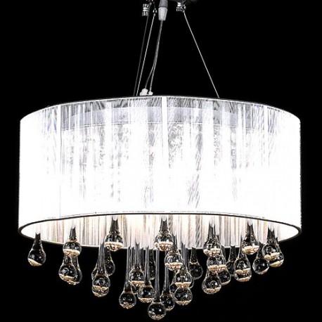 Lustre design en cristal 3 bougies et 85 cristaux