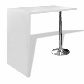 Table Blanche de bar  avec 1 pied
