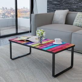 Table basse design impression cabine téléphonique