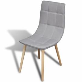 Ensemble de 2 chaises en tissu gris clair