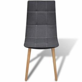 Ensemble de 2 chaises en tissu gris foncé