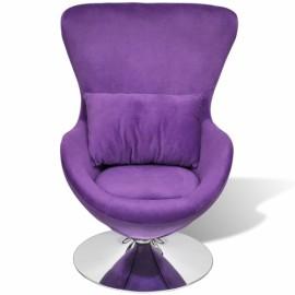 Chaise forme oeuf pivontante pourpre